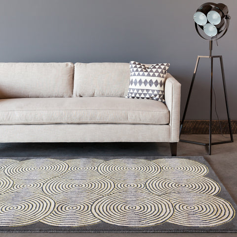 Stella Collection Hand-Tufted Area Rug in Grey, Cream, & Yellow design by Chandra rugs