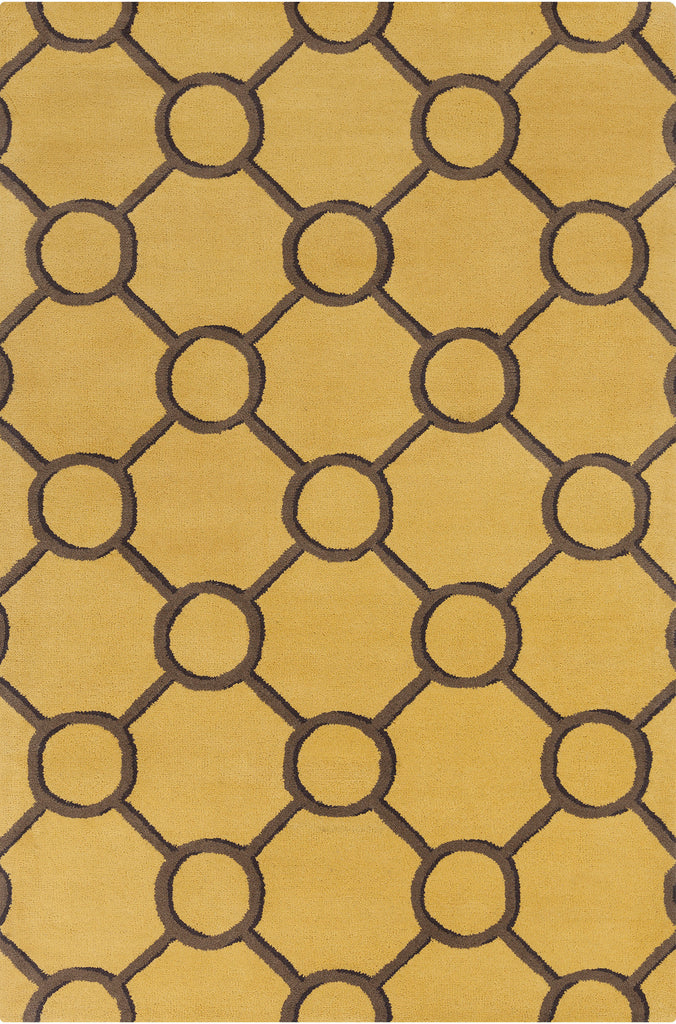 Stella Collection Hand-Tufted Area Rug in Yellow & Brown design by Chandra rugs