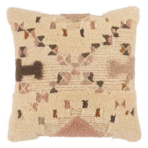 Meja Tribal Pillow in Cream & Light Pink