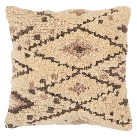 Sidda Tribal Pillow in Cream & Dark Gray