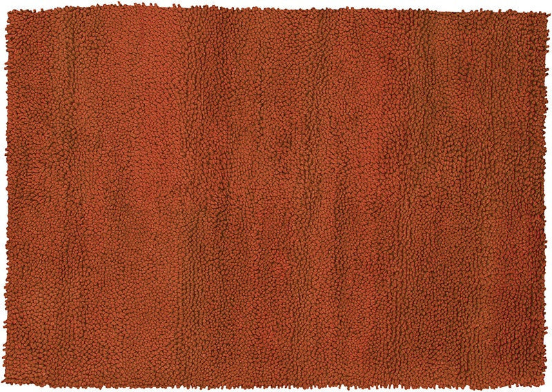 Strata Hand Knotted New Zealand Wool Area Rug In Rust Design By