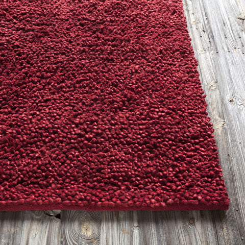 Strata Collection Hand-Woven Area Rug in Deep Red design by Chandra rugs
