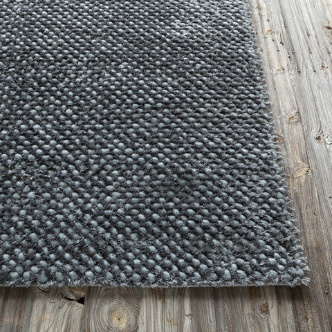 Strata Collection Hand-Woven Area Rug in Dark Grey design by Chandra rugs