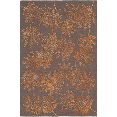 Starlit STR-2304 Hand Tufted Rug in Burnt Orange & Dark Brown by Surya
