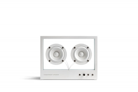 Small Transparent Speaker White