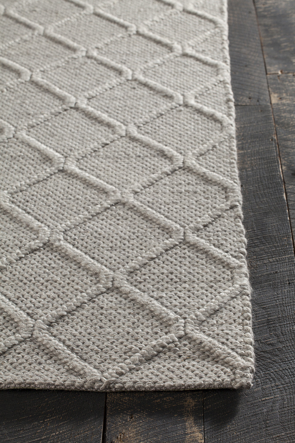 Sujan Collection Hand Woven Area Rug In Grey Design By