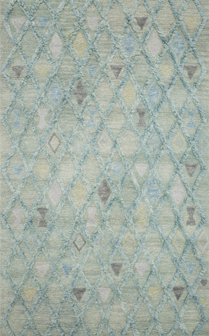 Symbology Rug in Seafoam & Sky by Justina Blakeney for Loloi