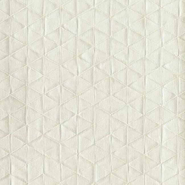 Sample Sacred Geometry Wallpaper in Cream from the Moderne Collection by Stacy Garcia for York Wallcoverings