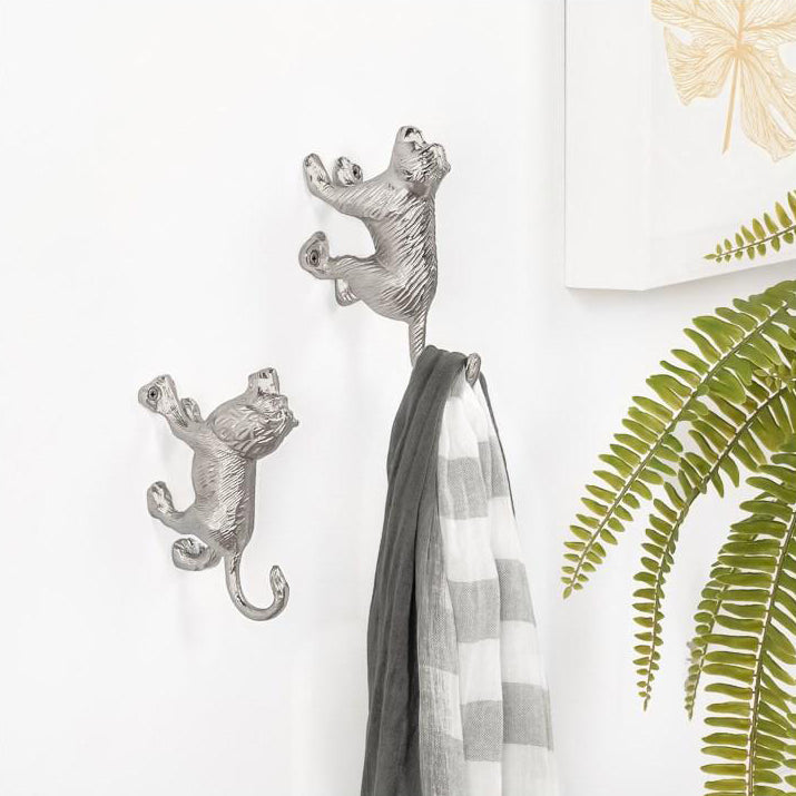 Safari Animal Aluminum Wall Hook - Lion