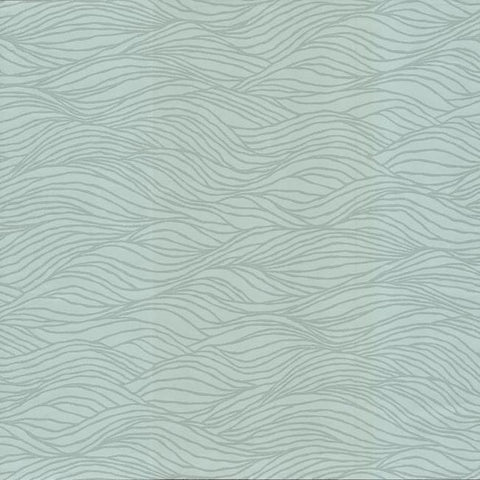 Sand Crest Wallpaper in Light Blue from the Botanical Dreams Collection by Candice Olson for York Wallcoverings