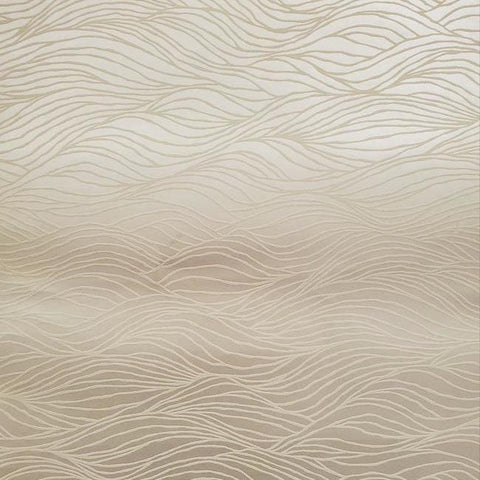 Sand Crest Wallpaper in Tan from the Botanical Dreams Collection by Candice Olson for York Wallcoverings