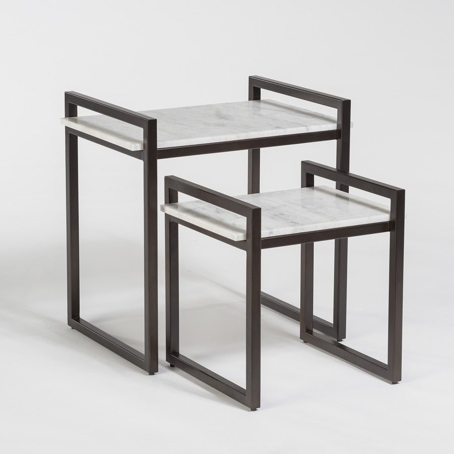 Santa Barbara Nesting Tables in Gunmetal