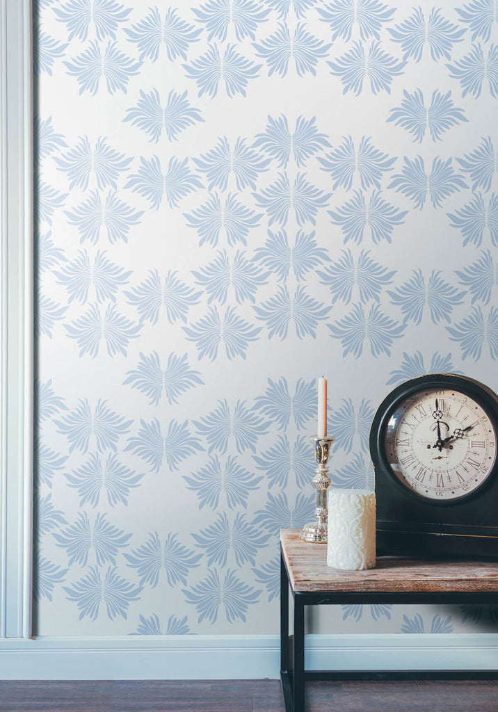 Sarah Annie Wallpaper in Duck Egg from the Ella & Sofia Collection by Milton & King