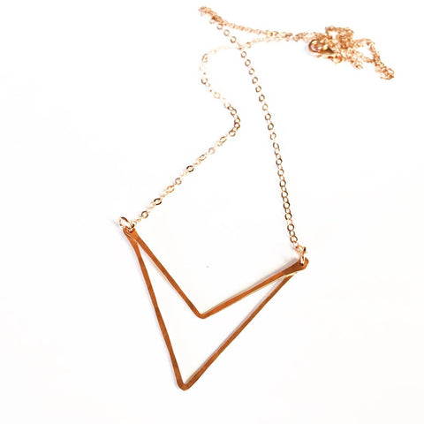 Sari Double Triangle Necklace design by Agapantha
