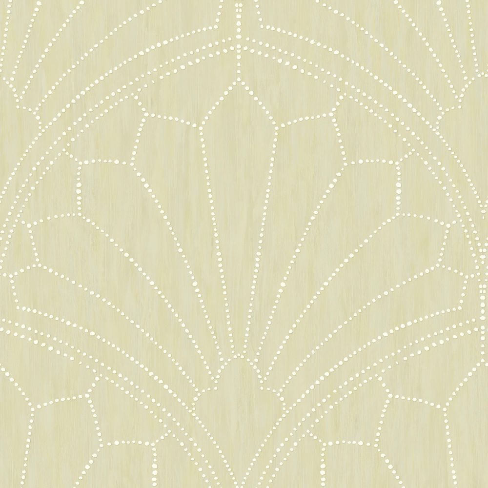 Scallop Medallion Wallpaper in Sand Dunes from the Boho Rhapsody Collection by Seabrook Wallcoverings