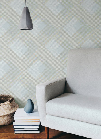 Scandia Plaid Wallpaper from the Norlander Collection by York Wallcoverings