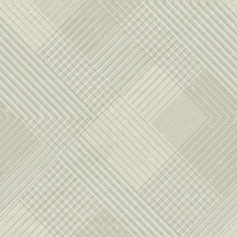 Scandia Plaid Wallpaper in Beige and Metallic from the Norlander Collection by York Wallcoverings