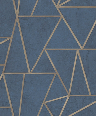 Sample Scandinavian Faux Wall Wallpaper in Navy by Walls Republic