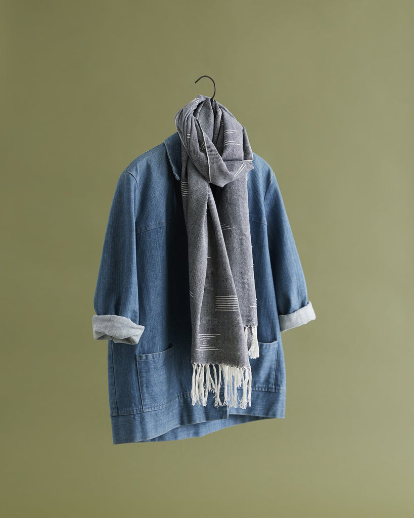 Shapes Scarf in Blue by Minna