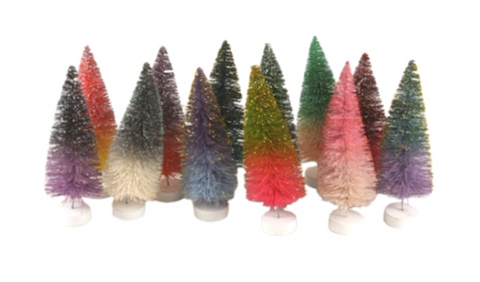 Glitter Ombre Trees (Set of 12) Holiday Decor