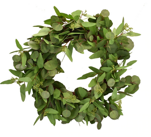 Mixed Eucalyptus Wreath 24""