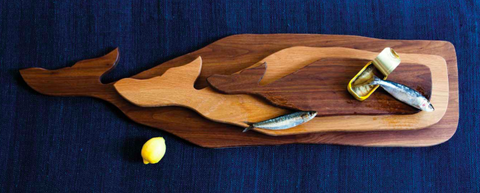 Little Whale Wood Board in Walnut design by Sir/Madam