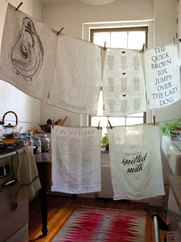 Mind Your Manners Tea Towel design by Sir/Madam