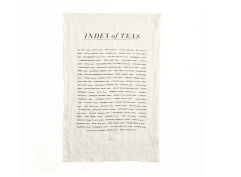 Index of Tea Pure Linen Tea Towel design by Sir/Madam