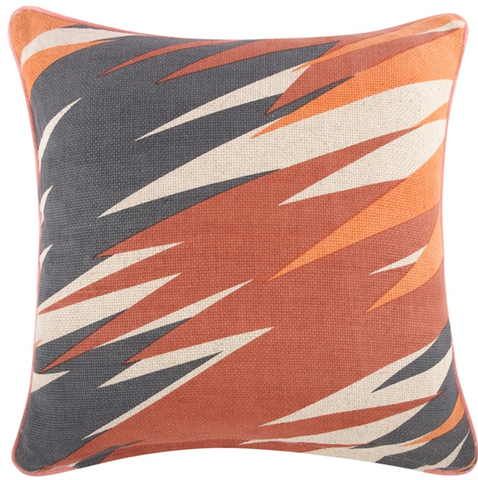 "Pop/Flame Pillow 18""x18"" design by Thomas Paul"