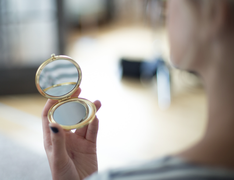 Gold Compact Mirror design by Odeme