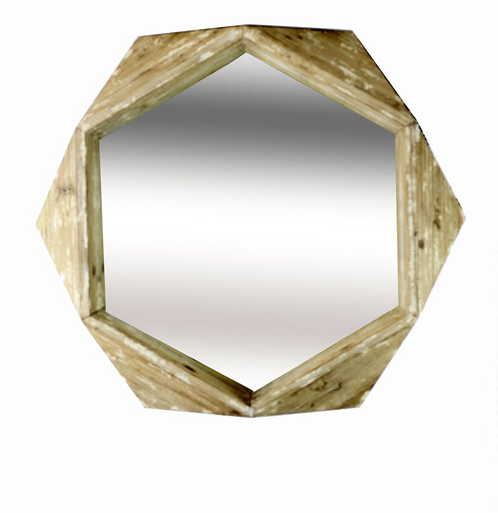 3D Wooden Quad Mirror design by Vagabond Vintage