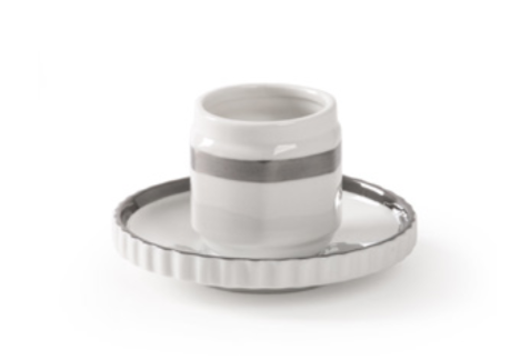Diesel- Machine Collection Silver Edge Single Coffee Cup by Seletti