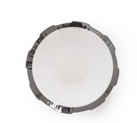 Diesel- Machine Collection Silver Edge Soup Plate by Seletti