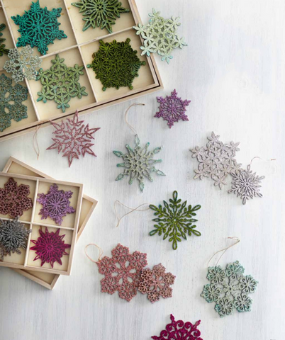 Shimmering Snowflake Ornament Sets design by Roost