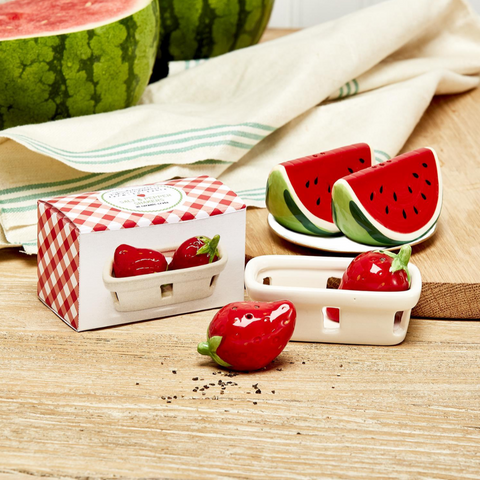 Fresh Picked Fruit Salt & Pepper Shaker Set