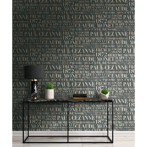 Script Wallpaper from the French Impressionist Collection by Seabrook Wallcoverings