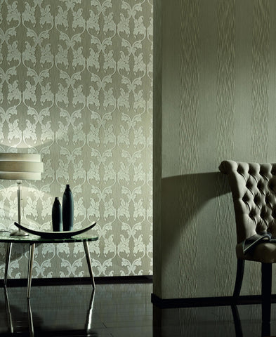 Scrollwork Floral Curve Wallpaper design by BD Wall