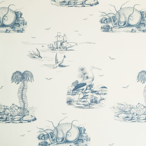 Sample Sea Tales Wallpaper in Indigo Eyes by Abnormals Anonymous