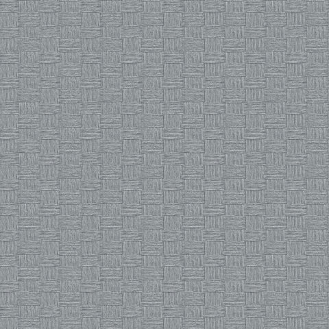 Seagrass Weave Wallpaper in Cove Grey from the More Textures Collection by Seabrook Wallcoverings