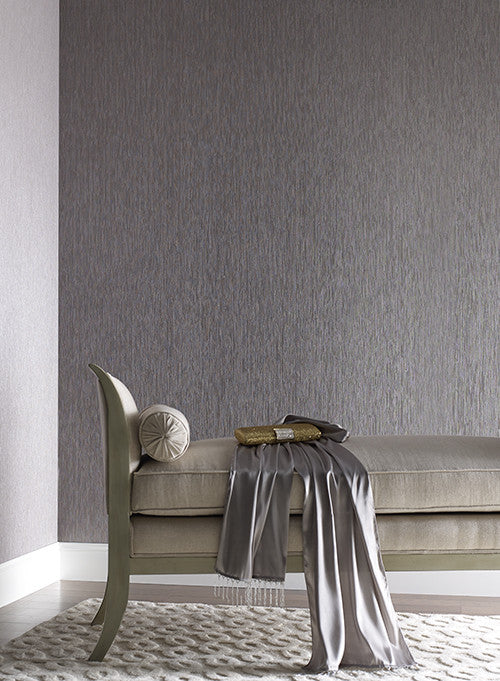 Seagrass Faux Grasscloth Wallpaper In Pale Grey By York