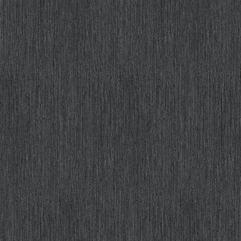 Seagrass Faux Grasscloth Wallpaper in Black and Silver by York Wallcoverings
