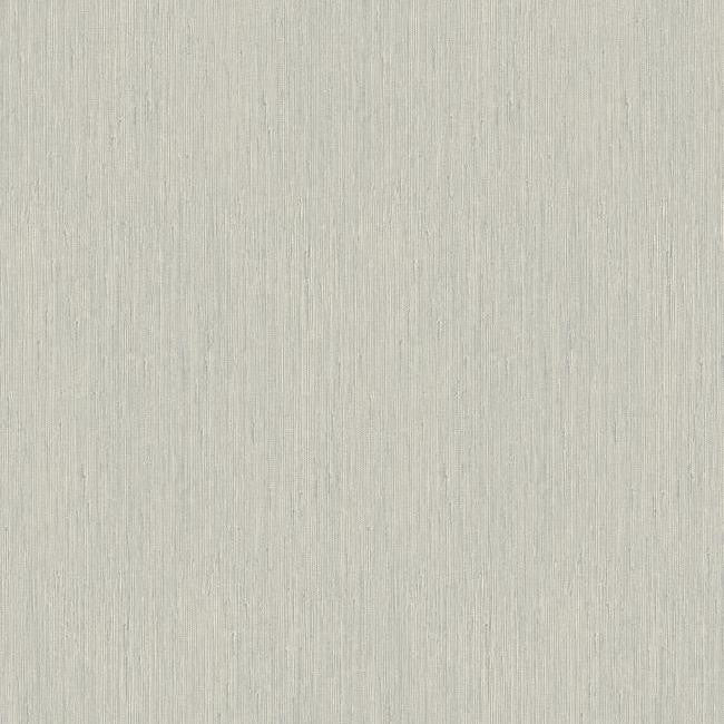 Sample Seagrass Faux Grasscloth Wallpaper in Pale Grey by York Wallcoverings
