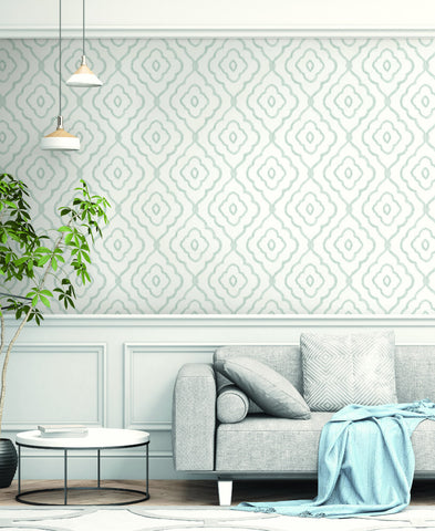 Seaside Ogee Wallpaper from the Beach House Collection by Seabrook Wallcoverings