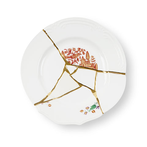 Kintsugi Dinner Plate 1 by Seletti
