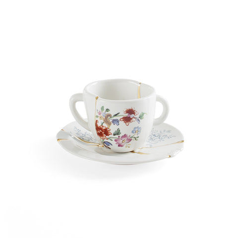 Kintsugi Coffee Cup with Saucer 1