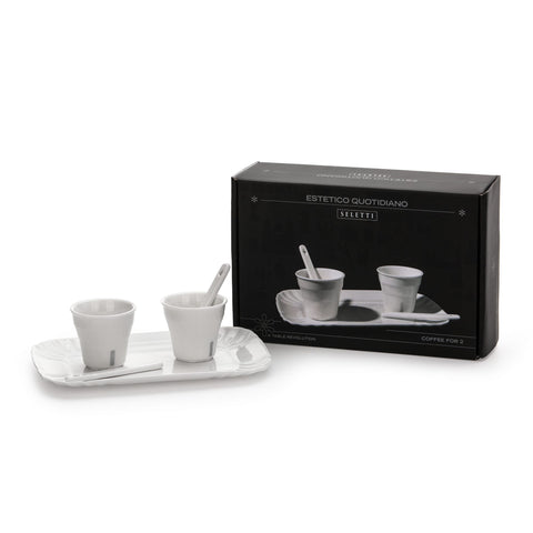 Estetico Quotidiano Set 2 Coffee Cups & 1 Tray design by Seletti