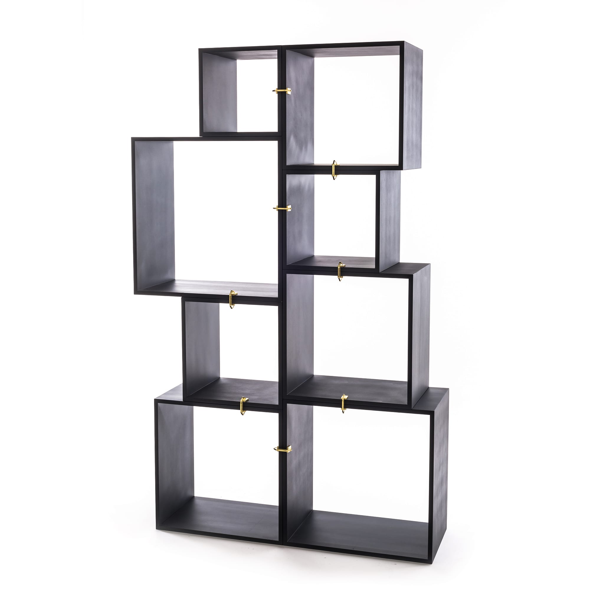 Assemblage Modular Bookcase In Antracite By Seletti Burke