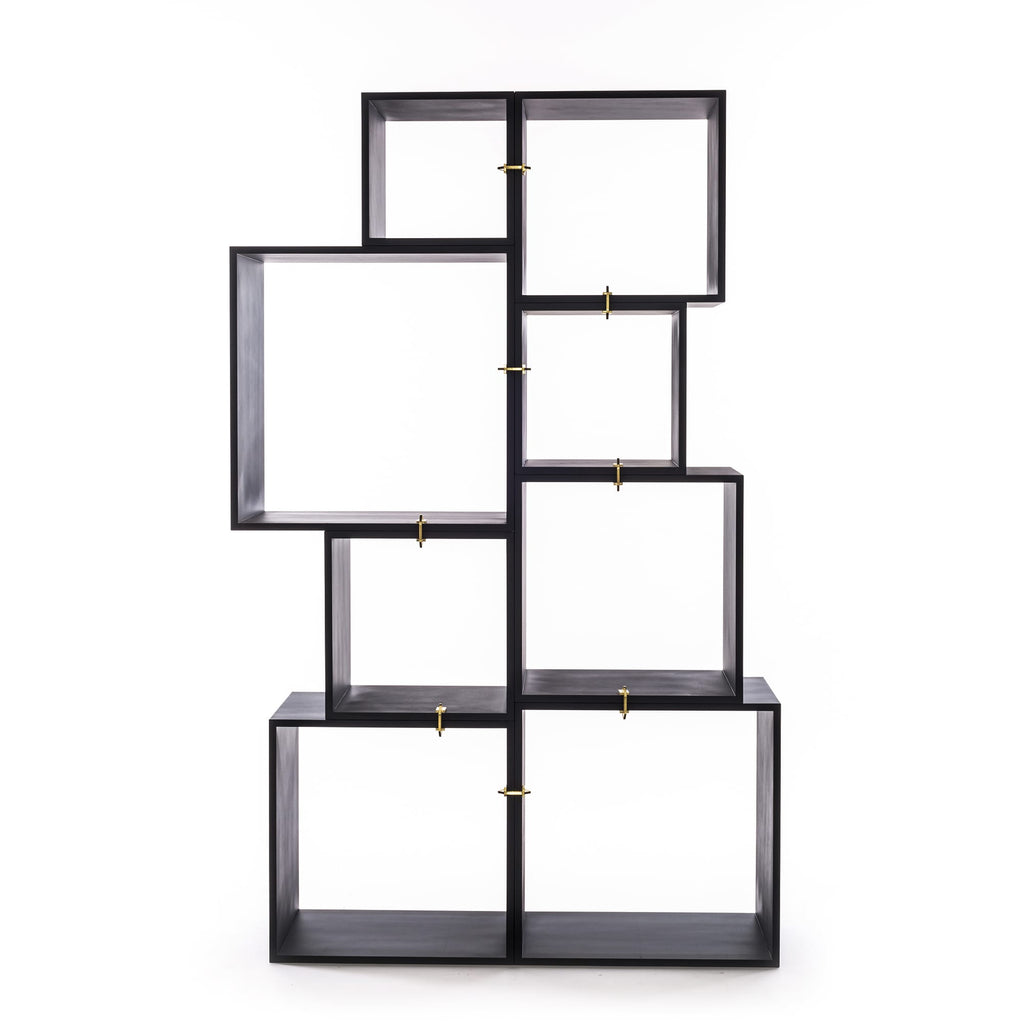 Assemblage Modular Bookcase in Antracite by Seletti