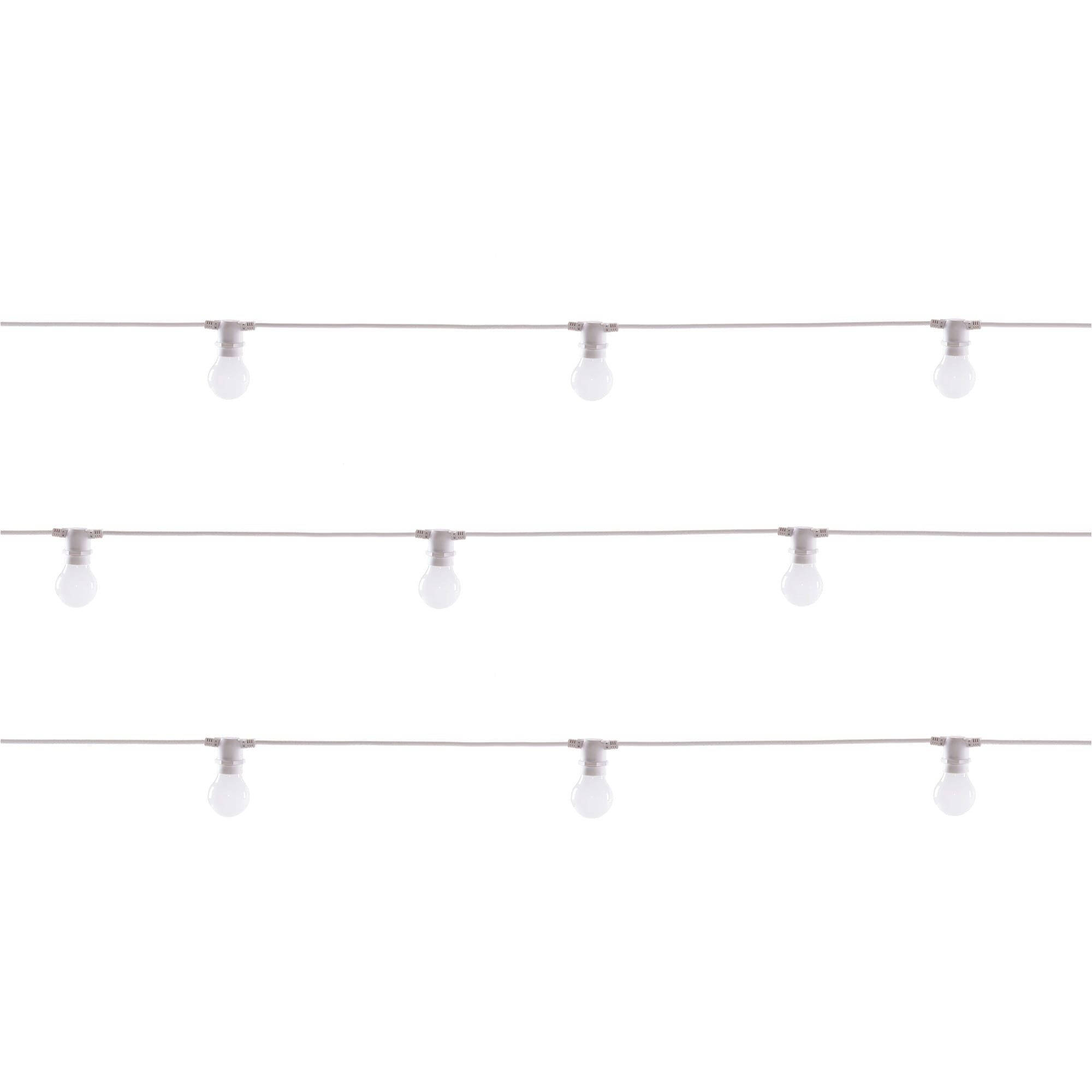 Bella Vista Set of 10 Lights in White design by Seletti