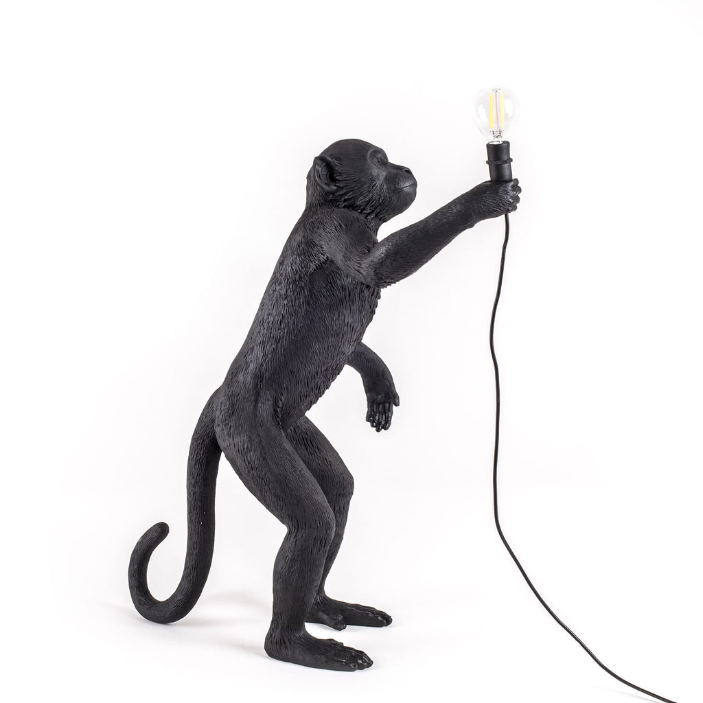 The Monkey Lamp in Black Standing Version